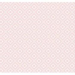 POLYCOTTON 76x68 ROMBY RÓŻ